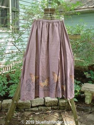 Vintage Blue Fish Clothing Barclay Linen A Line Butterfly Skirt Plum Size 2- Bluefishfinder.com