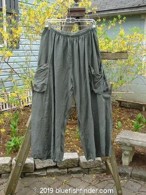 Vintage Blue Fish Clothing Barclay Linen Crop Double Pocket Sectional Pant Grey Green Size 1- Bluefishfinder.com