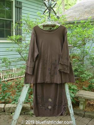 Bluefishfinder.com - Barclay Long Sleeved Petal Tunic Gather Skirt Duo Planet Bark Size 1