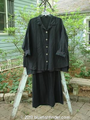 Vintage Blue Fish Clothing Barclay Metal Button Workshirt Contrast Stitch Bell Skirt Duo Black Size 2- Bluefishfinder.com