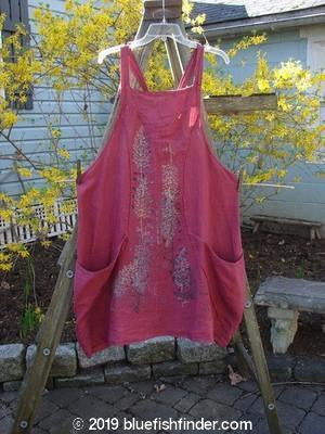 Vintage Blue Fish Clothing Barclay NWT Cross Dye Blooming Apron Forest Fern Berrirose Size 1- Bluefishfinder.com