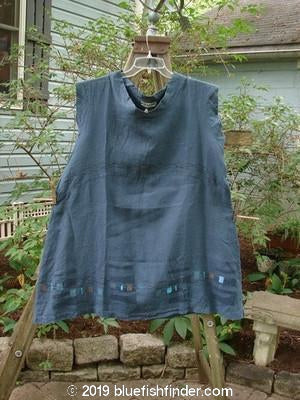 Vintage Blue Fish Clothing Barclay NWT Mid Layer Cap Sleeve Tunic Blue Teal Size 2- Bluefishfinder.com
