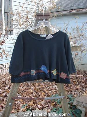 Vintage Blue Fish Clothing Barclay NWT Patched Thermal Crop Top Black Size 1- Bluefishfinder.com