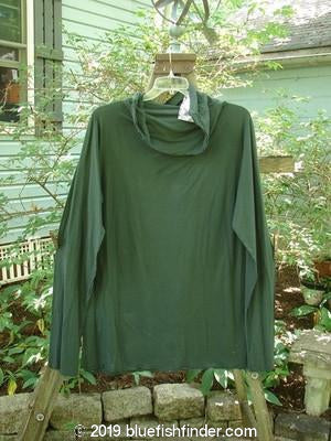 Vintage Blue Fish Clothing Barclay NWT Rolled Paper Turtleneck Hunter Green Size 2- Bluefishfinder.com