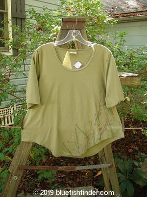 Vintage Blue Fish Clothing Barclay NWT Short Sleeved Crop Twinkle Top Berry Branch Light Bark Tiny Size 2- Bluefishfinder.com