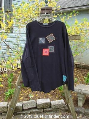 Vintage Blue Fish Clothing Barclay Patched Long Sleeved Thumb Tunic Black Size 1- Bluefishfinder.com
