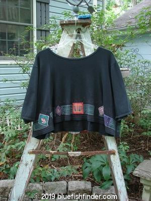 Vintage Blue Fish Clothing Barclay Patched Thermal Crop Top Black Size 2- Bluefishfinder.com