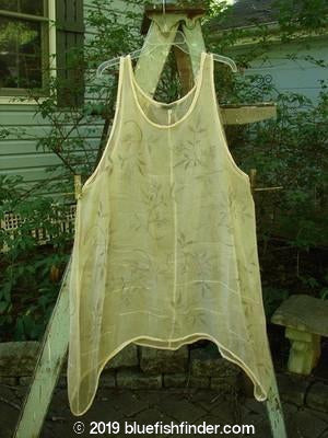 Vintage Blue Fish Clothing Barclay Pinafore Silk Wave Continuous Fern Wheat Size 1- Bluefishfinder.com