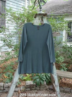 Vintage Blue Fish Clothing Barclay Rayon Lycra A Line Top Peacock Size 1- Bluefishfinder.com