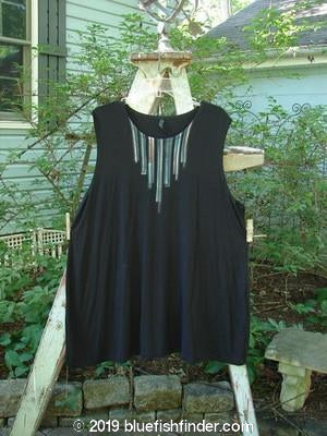 Vintage Blue Fish Clothing Barclay Rayon Lycra Tunic Vest Necklace Black Size 2- Bluefishfinder.com