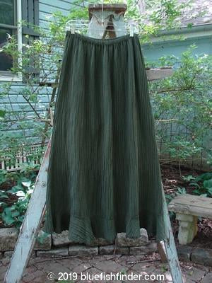 Vintage Blue Fish Clothing Barclay Rib Silk Flutter Ruffle A Line Skirt Army Size 1- Bluefishfinder.com