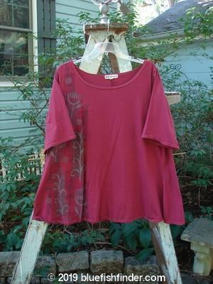 Vintage Blue Fish Clothing Barclay Short Sleeved A Line Top Side Vine Merlot Size 1- Bluefishfinder.com