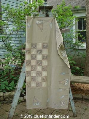 Vintage Blue Fish Clothing Barclay Square Games Tablecloth Jacks and Cats OS- Bluefishfinder.com