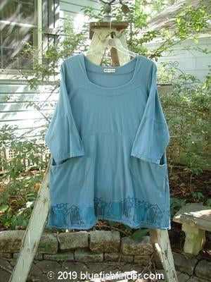 Vintage Blue Fish Clothing Barclay Squareneck Double Pocket Top Village Blue Teal Size 2- Bluefishfinder.com