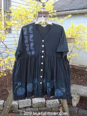 Vintage Blue Fish Clothing Barclay Tree Top Dress Planets Black OSFA- Bluefishfinder.com