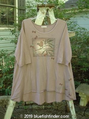 Vintage Blue Fish Clothing Barclay Triangle Top Birdie Branch Dusty Plum Size 1- Bluefishfinder.com