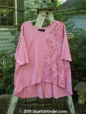 Vintage Blue Fish Clothing Barclay Triangle Tunic Side Stars Pink Peony Size 2- Bluefishfinder.com