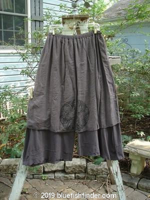 Vintage Blue Fish Clothing Barclay Two Tier Pinch Pant Skirt Hemp Silk Single Medallion Dark Sand Size 2- Bluefishfinder.com