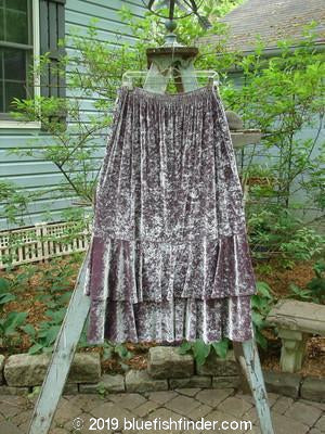 Vintage Blue Fish Clothing Barclay Velvet Two Story Dance Skirt Rosewater Size 2- Bluefishfinder.com
