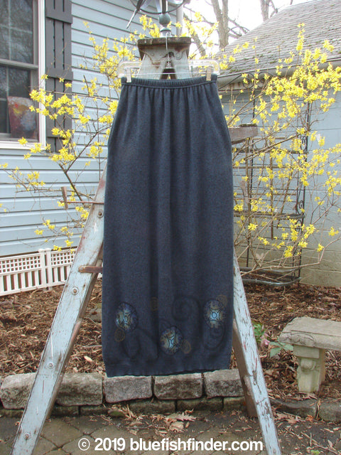 Vintage Blue Fish Clothing 1997 Cashmere Skirt Marled Blueprint Size 2- Bluefishfinder.com
