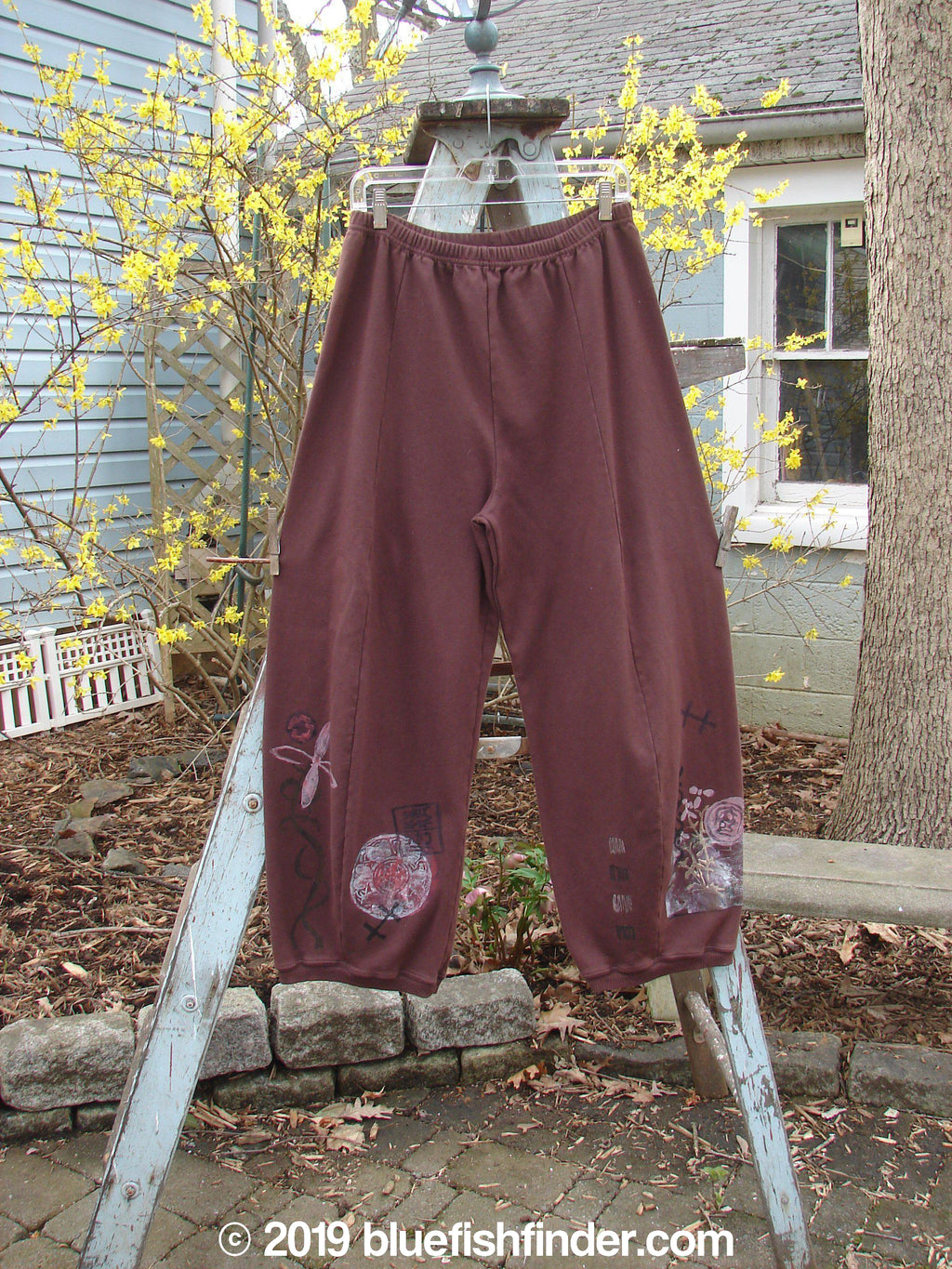 Vintage Blue Fish Clothing Barclay Interlock Radish Pant Medallion Spicewood Size 1- Bluefishfinder.com