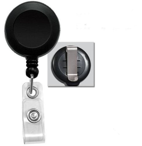 id card holder reel retractable badge with belt clip - Id Card Holder