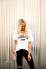 Weekend Lover Tee in White