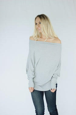 Alice Thermal Top in Gray