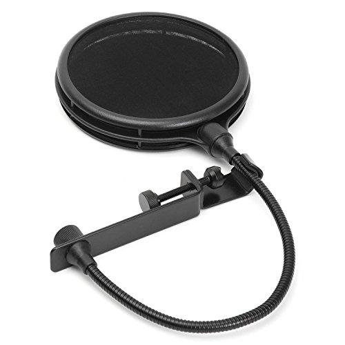 Dual Layer Microphone Pop Filter With Flexible Goozeneck For Superior Vocal Performance, Pop Shield