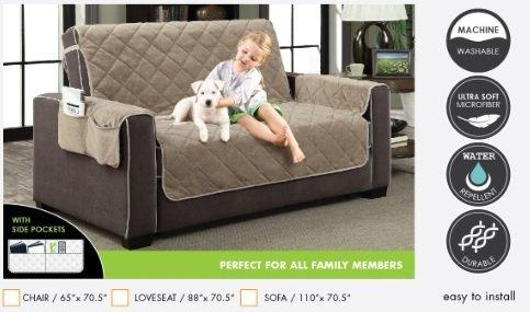 Home Dynamix Suede Couch Cover