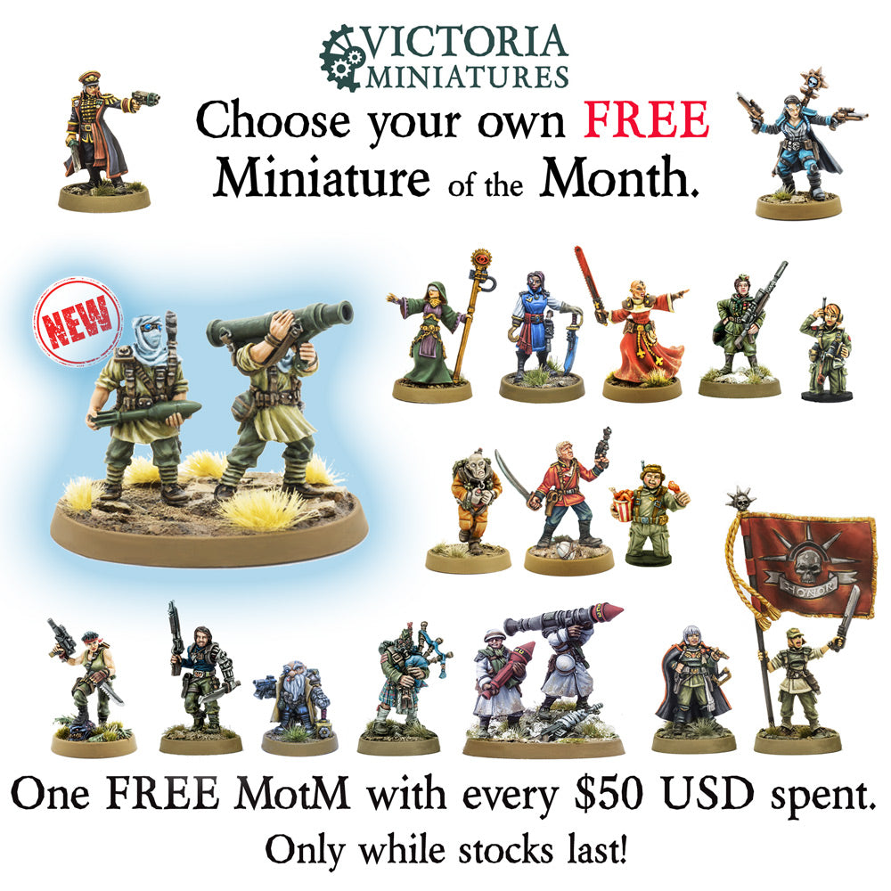 New! Desert Scorpions Missile Team, FREE Mini of the Month.