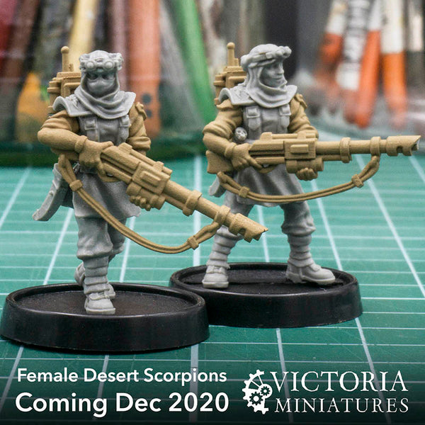 Female Desert Scorpions Preview. Coming December 2020.