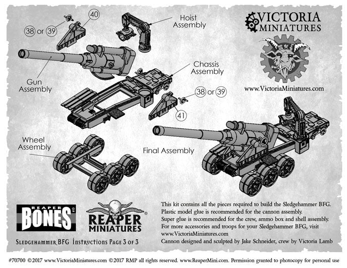 Sledgehammer BFG Cannon instructions now available for download.