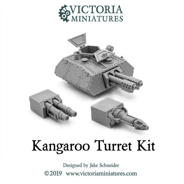 Kangaroo Turret Kit and Cannons now available.
