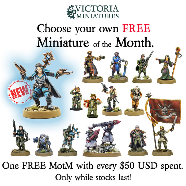 2020 first free Mini of the Month, Clara Gin, Mercenary Psycher.