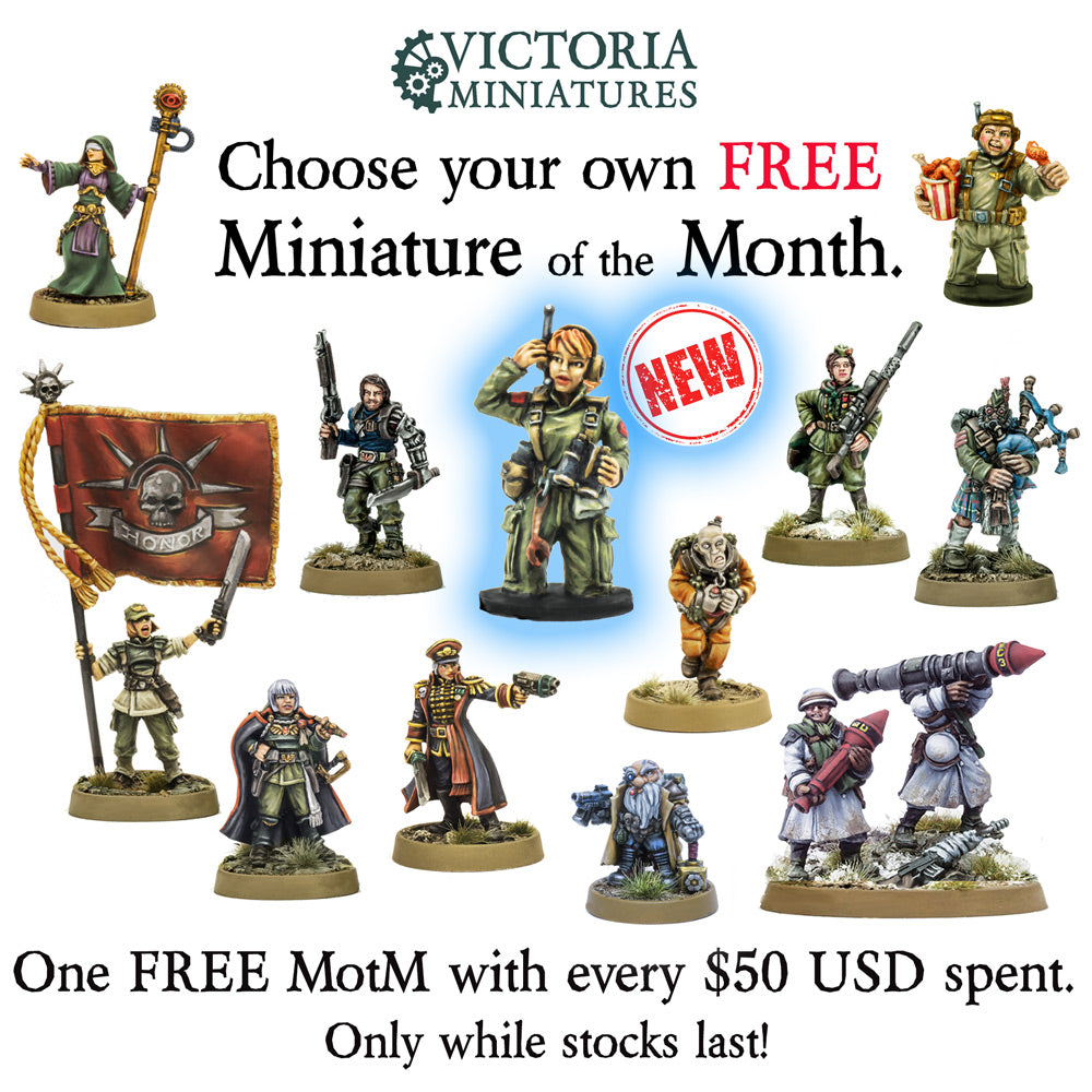 New Free Mini of the Month, Sgt. Tori, Tank Crew Woman.