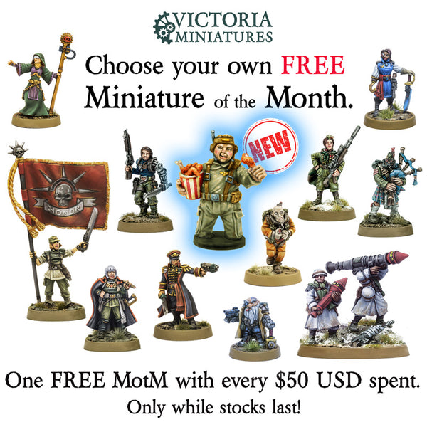 New! Cpl. Tucky, Tank Crewman. Free Mini of the Month