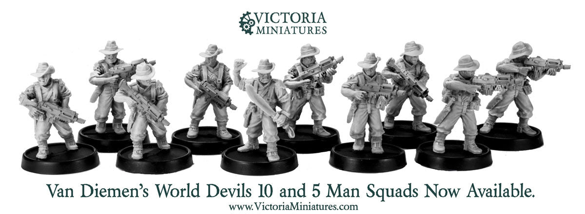 New Van Diemen's World Devils Squads Now Available