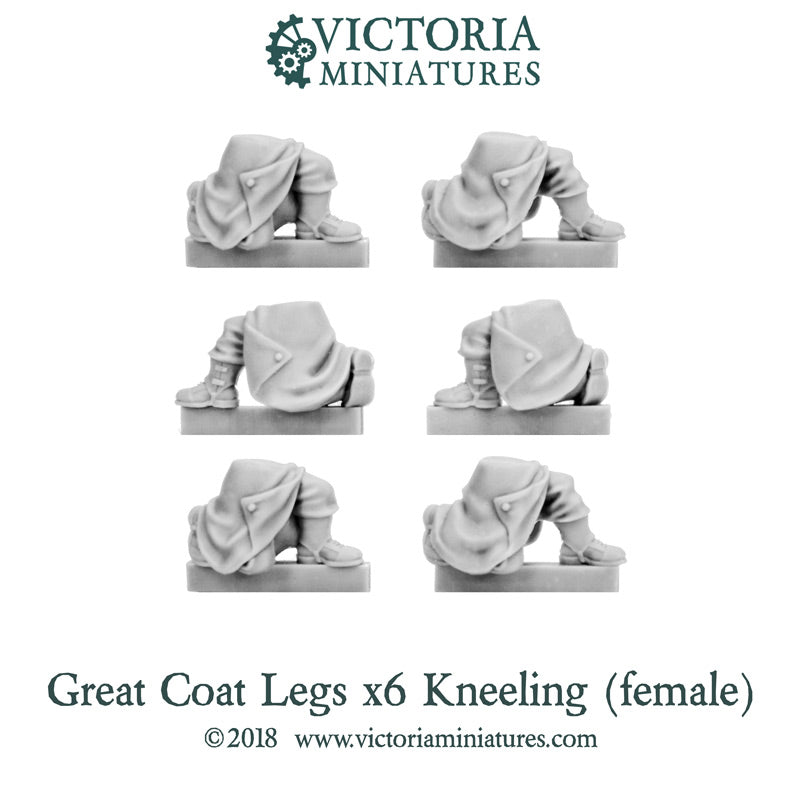 New Female Kneeling Great Coat Legs