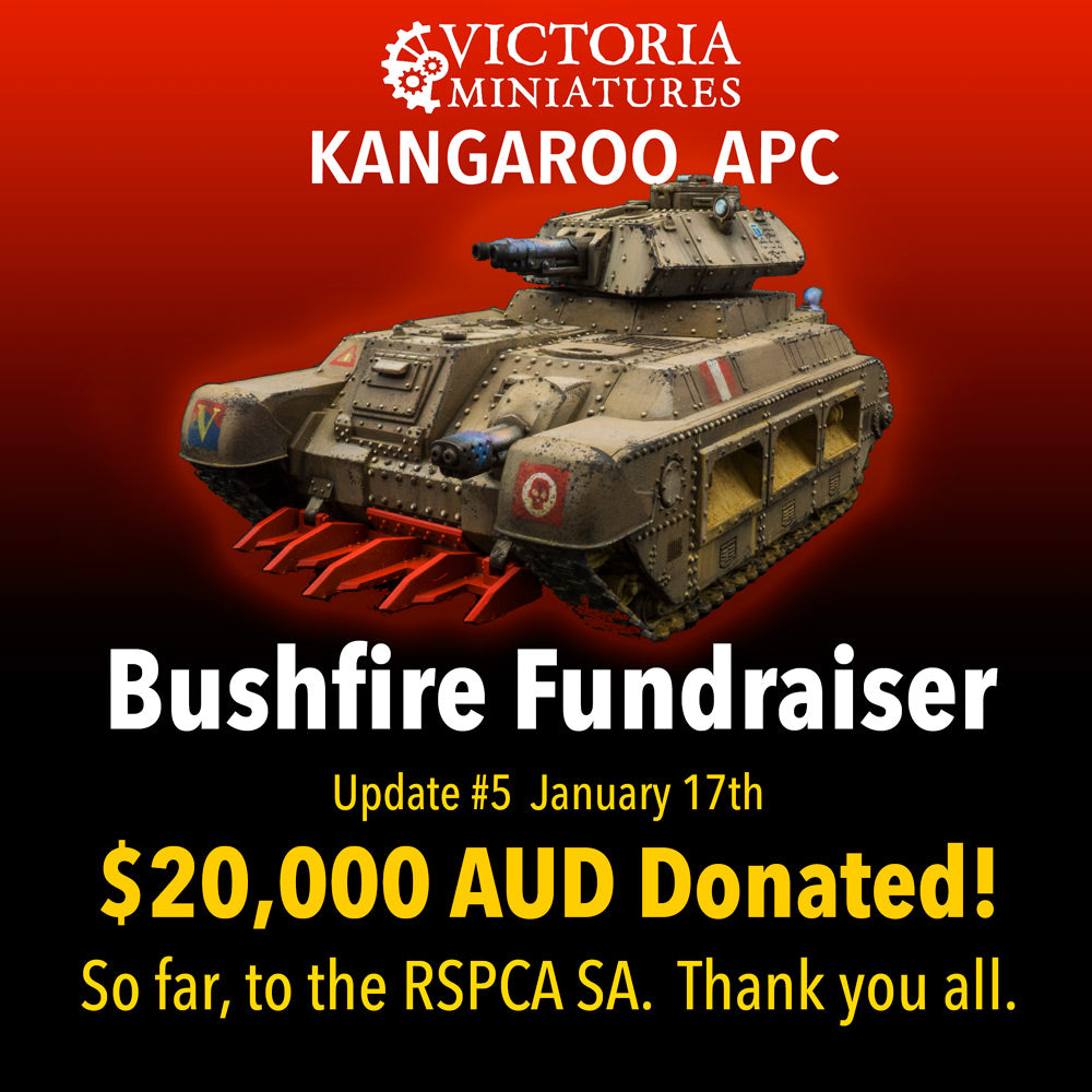 Victoria Miniatures Bushfire Fundraiser Update Jan 20.