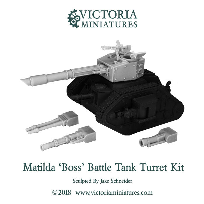 Victoria Miniatures, Matilda Tank Turret Kit, Now Shipping