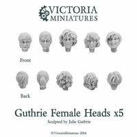 Guthrie Female Heads x5
