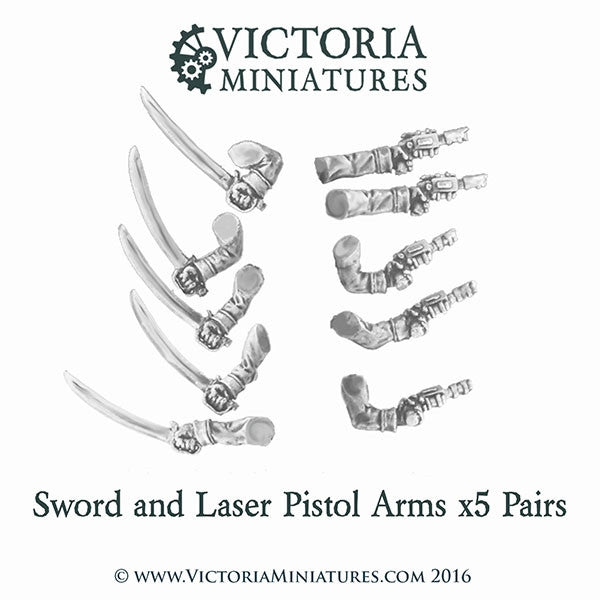 10 Sword and Laser Pistol Arms