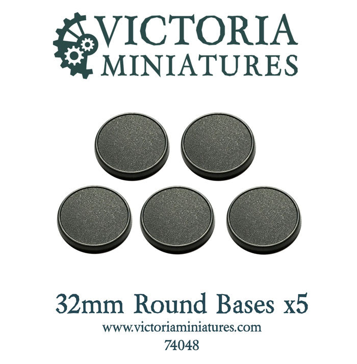 5 x 32mm Round Bases