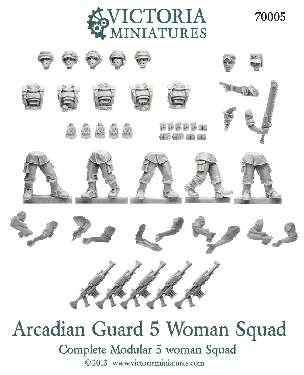 Arcadian Guard 5 Woman Squad.
