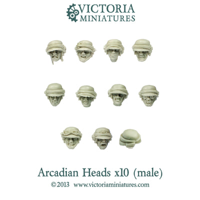 Arcadian Heads x10  (Male)