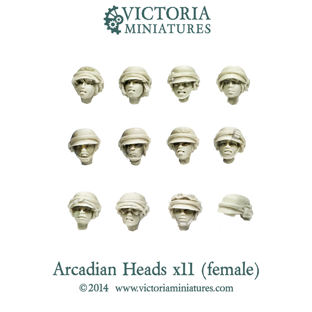 Arcadian Heads x11 (Female)