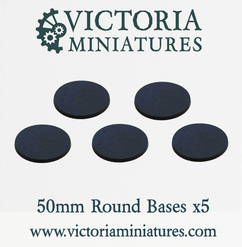 5 x 50mm Round Bases