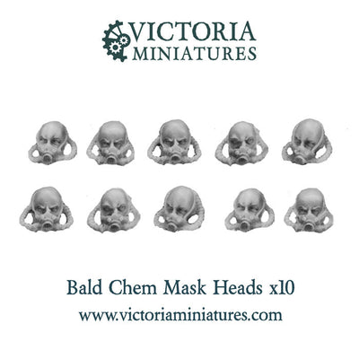 Bald Chem Mask Heads x10