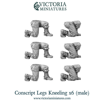 Conscript Legs (kneeling) x6 Resin